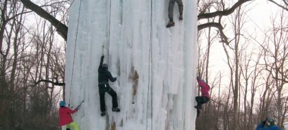 Ice Climbing at the Ice Tower