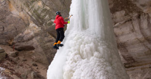 Half Day Ice Climbing on Real Waterfalls